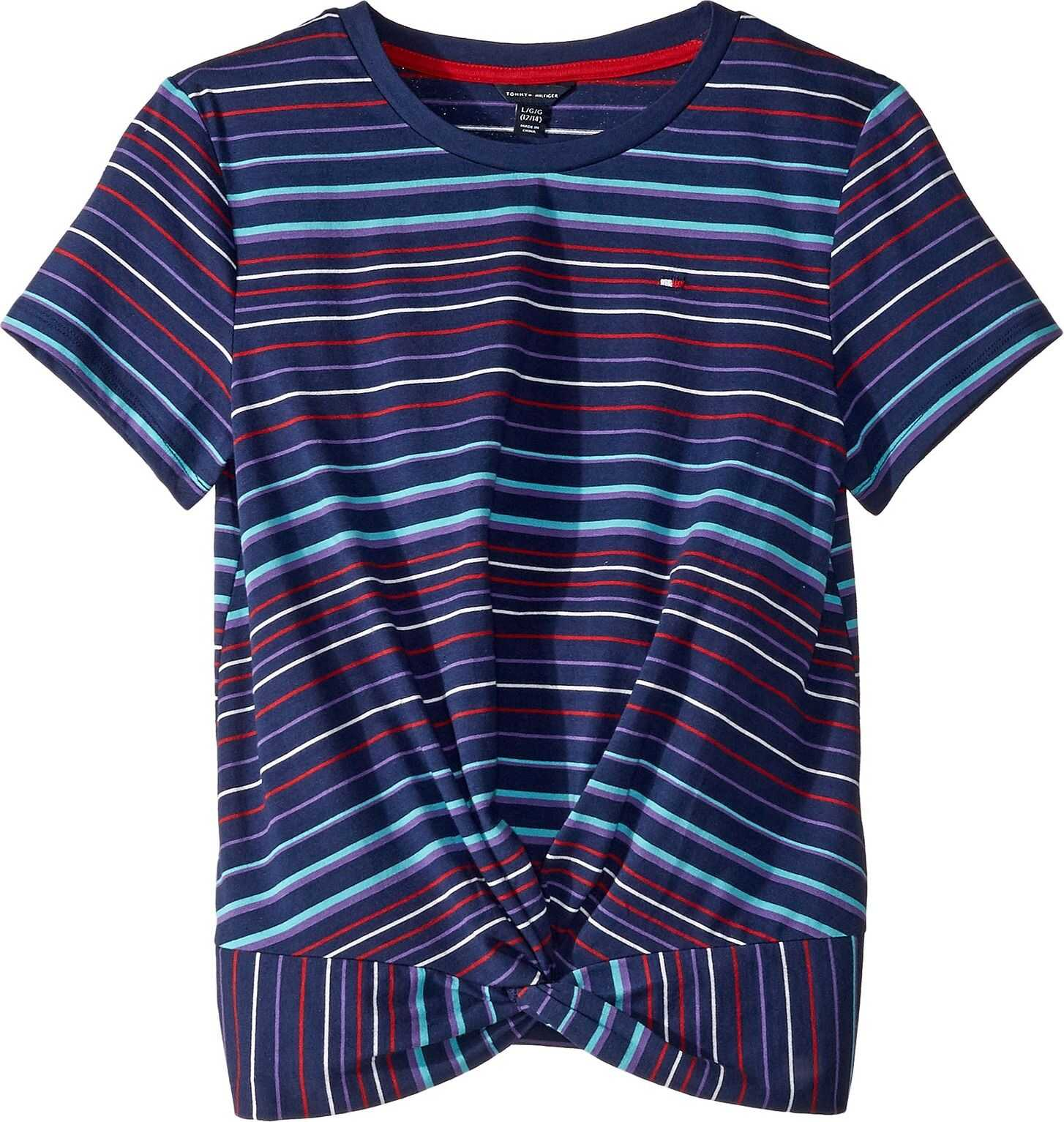 Knotted Striped Short Sleeve Tee (Big Kids)