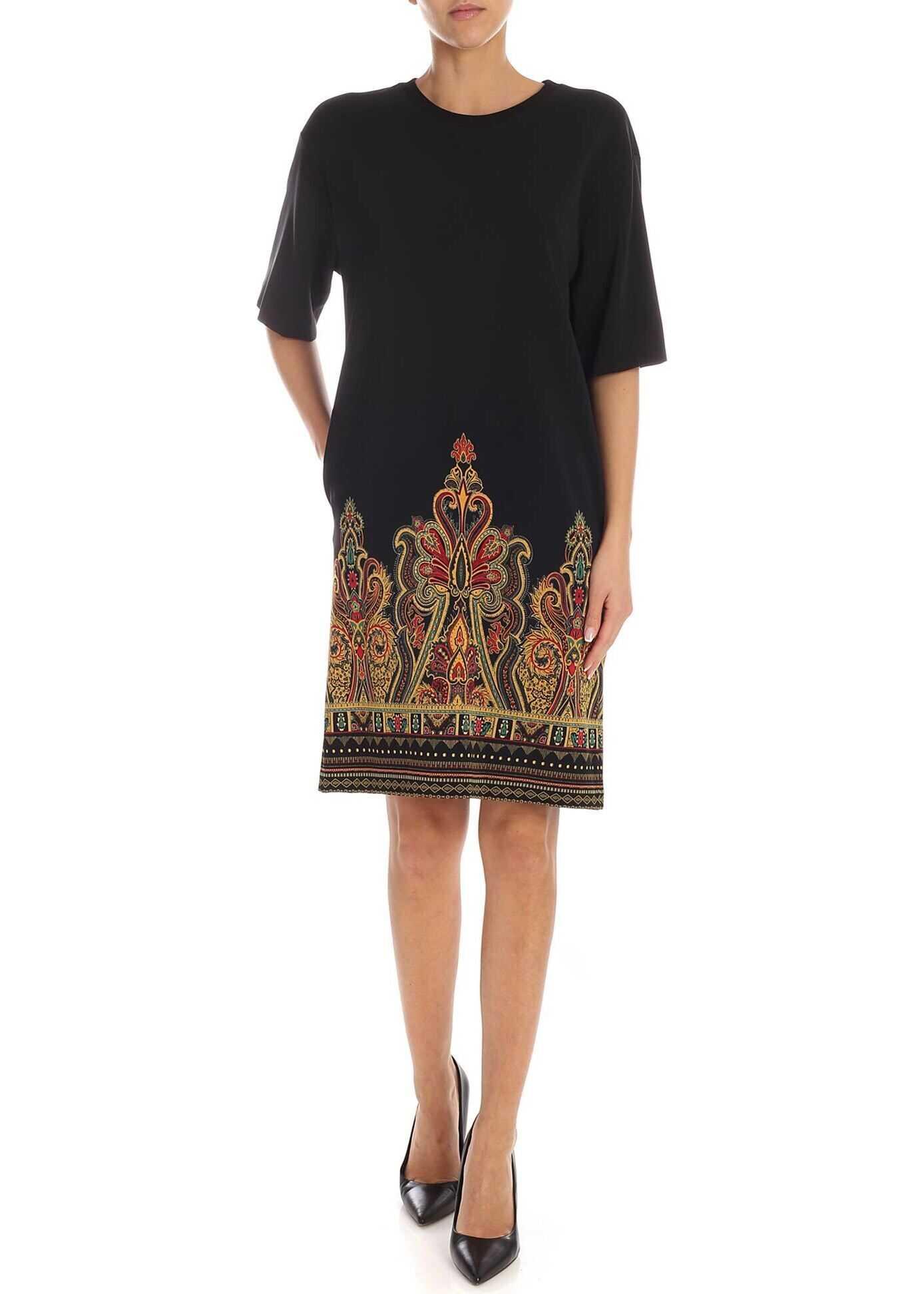 ETRO Paisley Print Dress In Black thumbnail