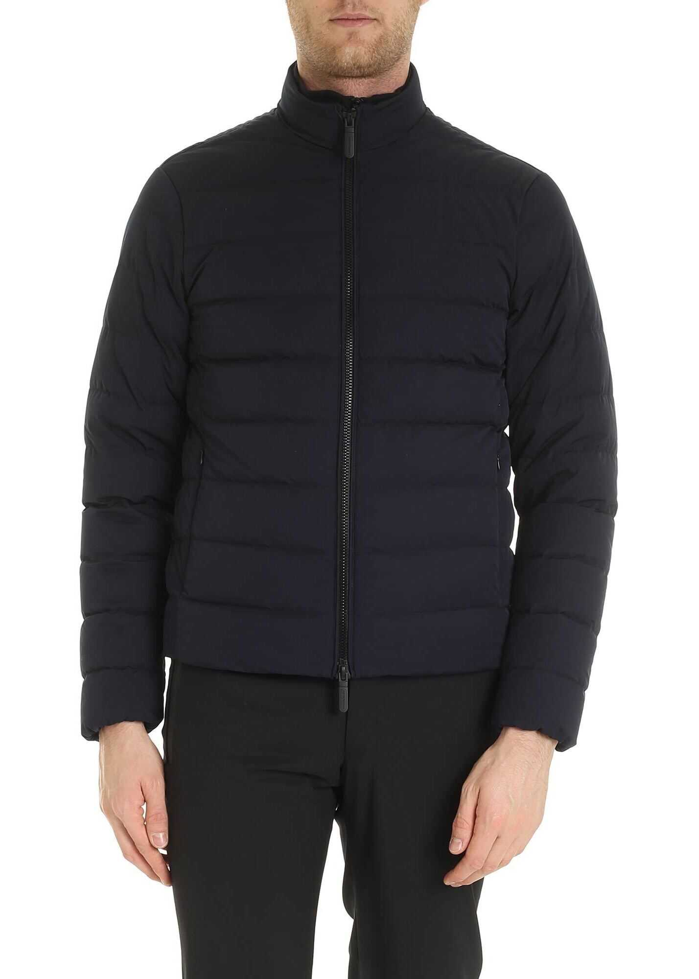 Emporio Armani Quilted Jacket In Blue Blue imagine