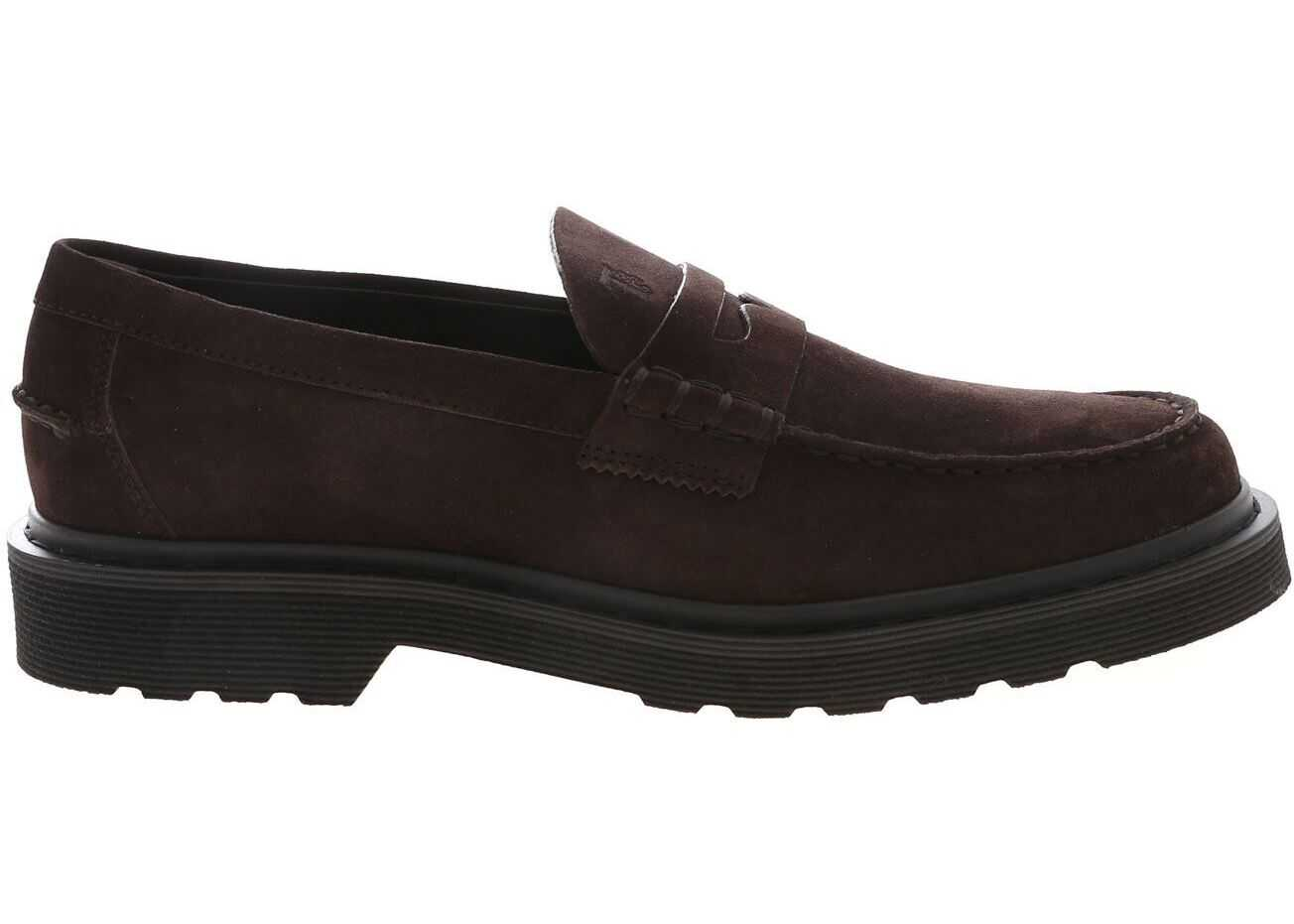 T Logo Loafers In Brown thumbnail