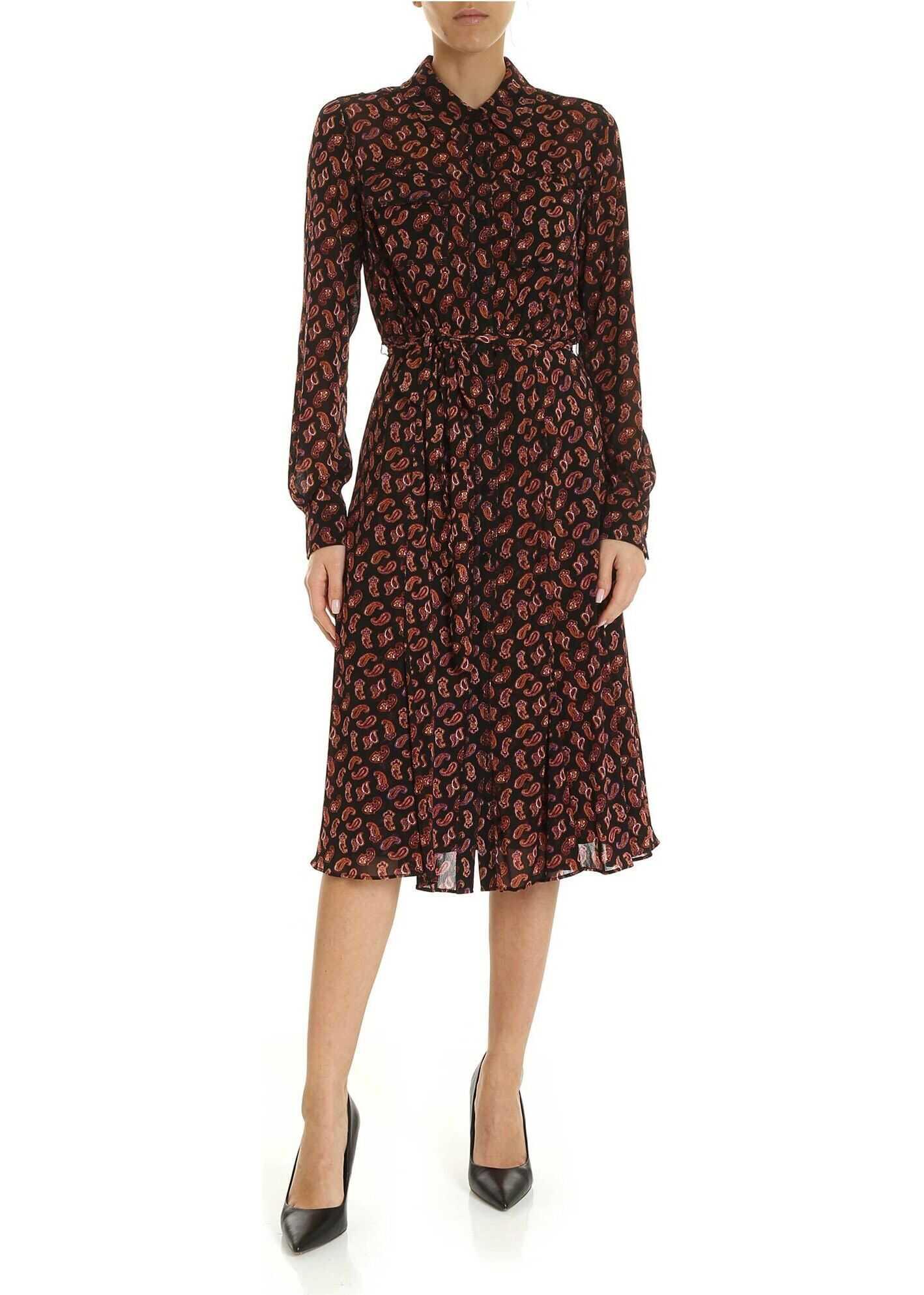 Diane von Furstenberg Andi Chemisier Dress In Black Black