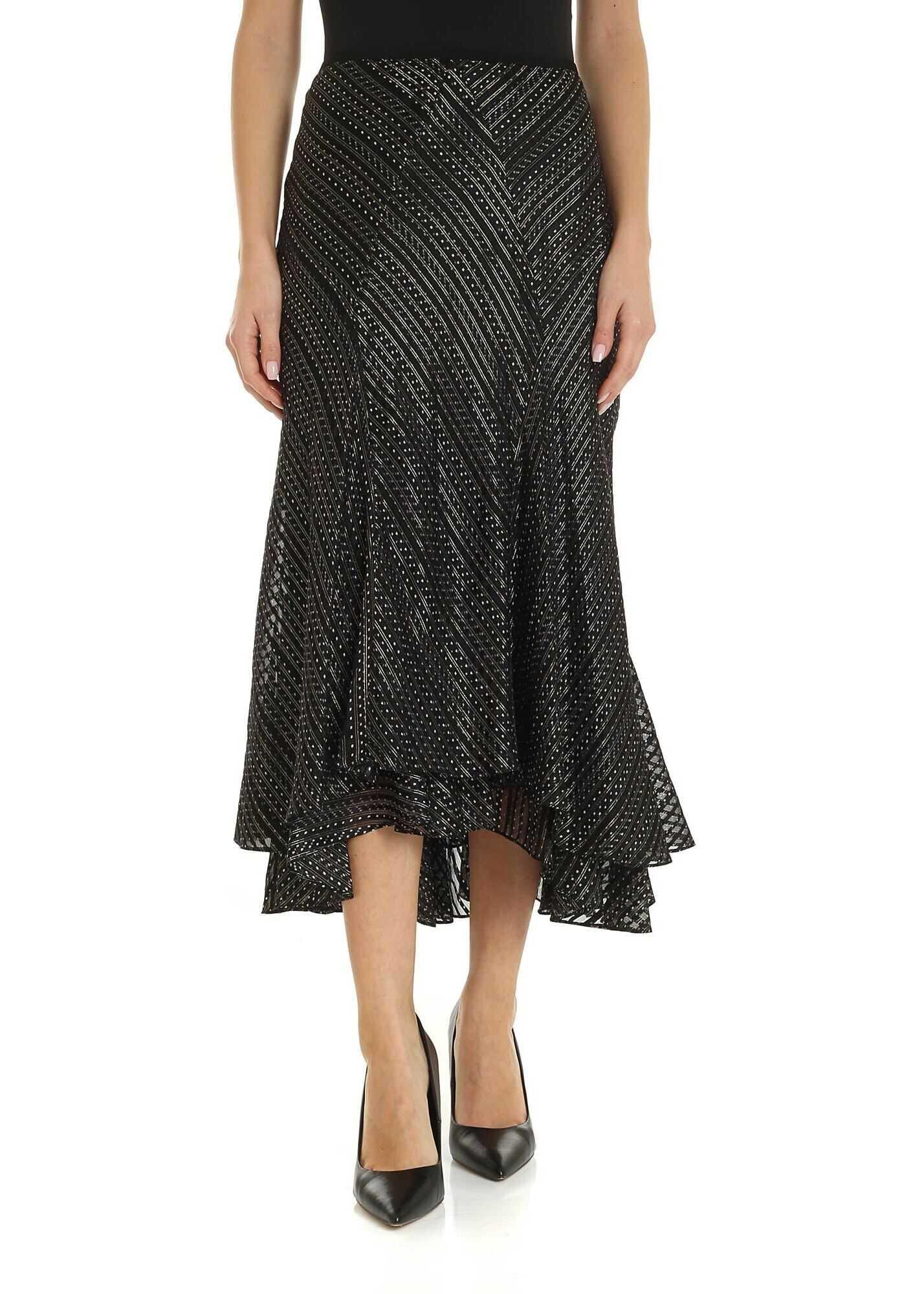 Diane von Furstenberg Debra Skirt In Black And Gold Black