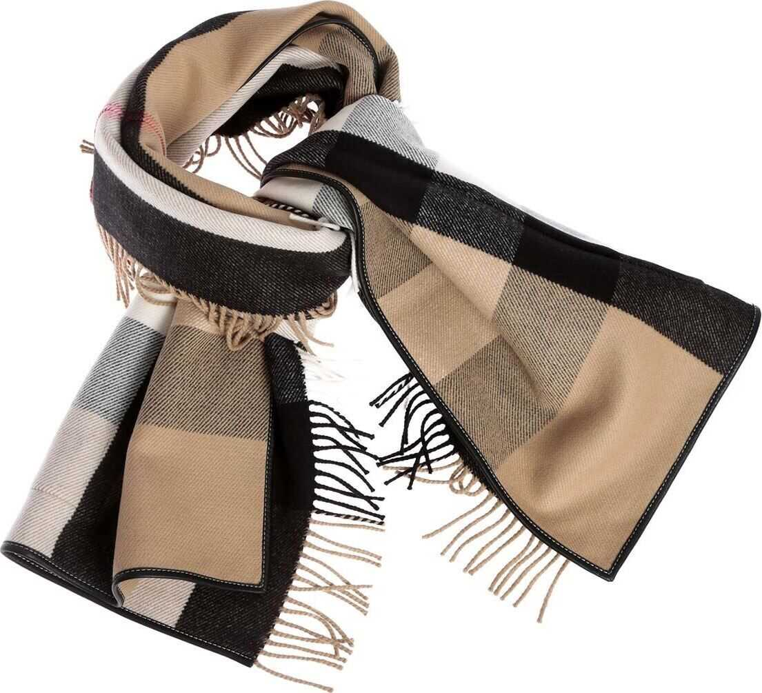 Burberry Half Mega Pocket Scarf In Archive Beige Color Beige