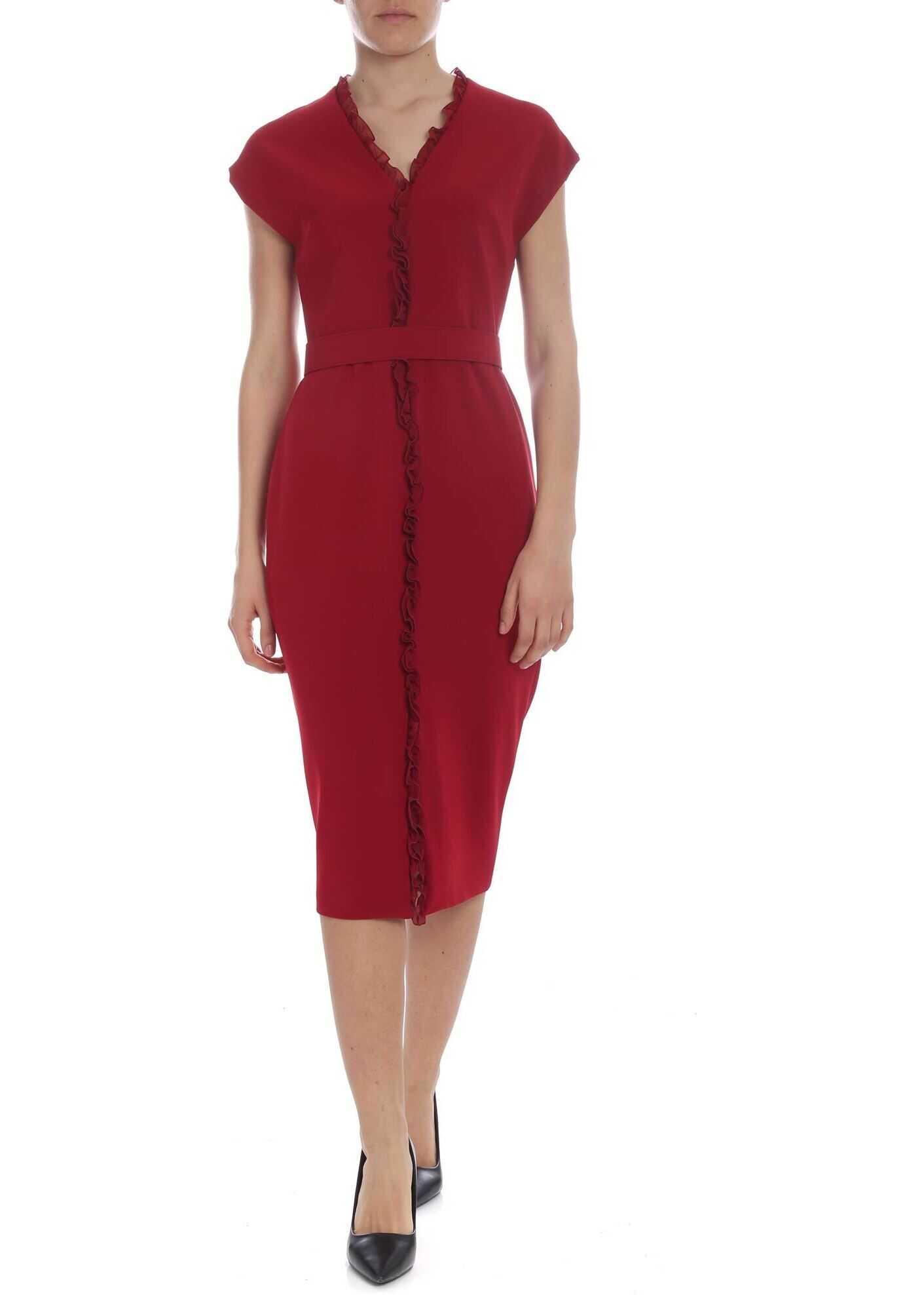 Nadir Dress In Dark Red thumbnail