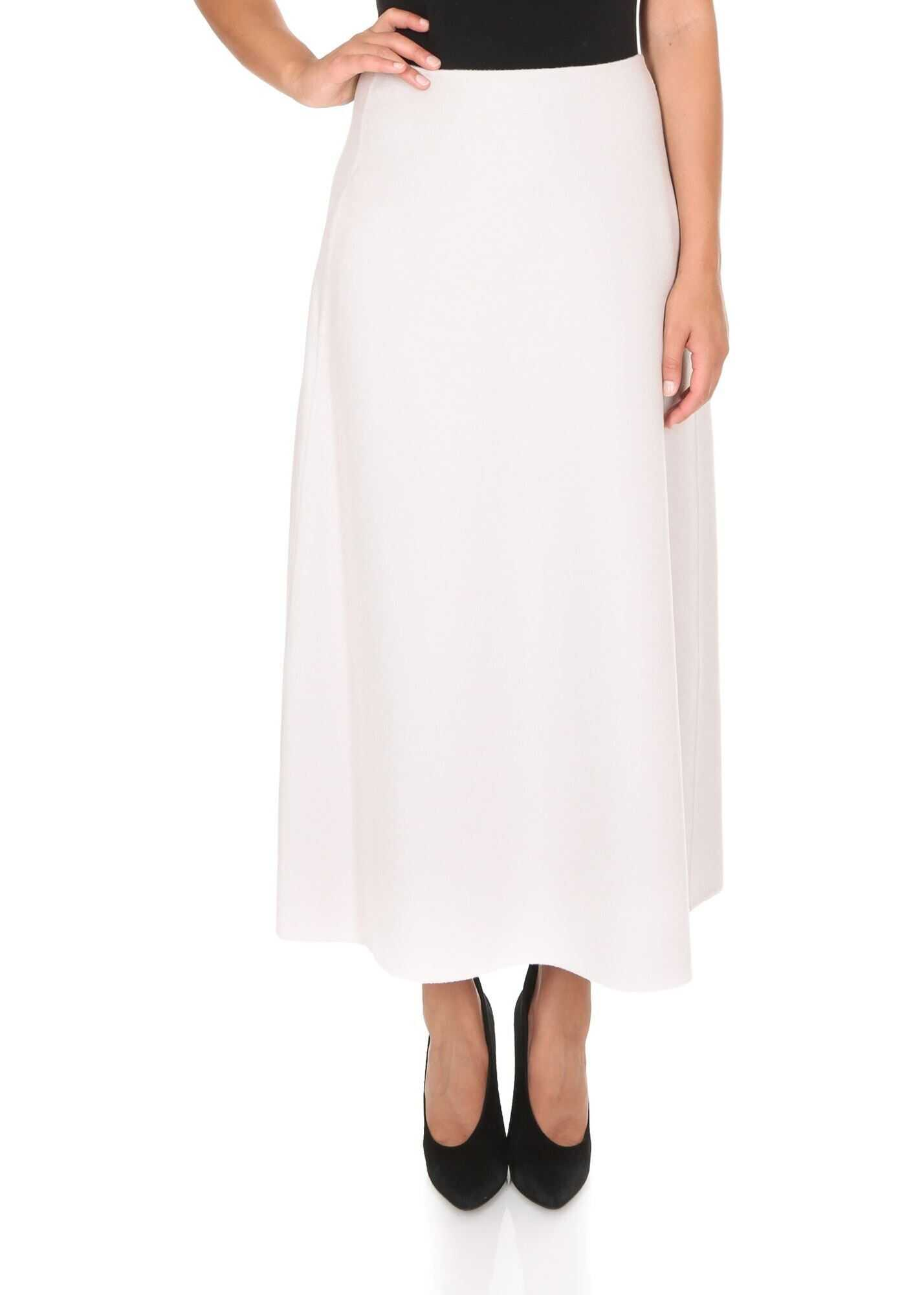 Max Mara Vociare Skirt In Ivory Color White