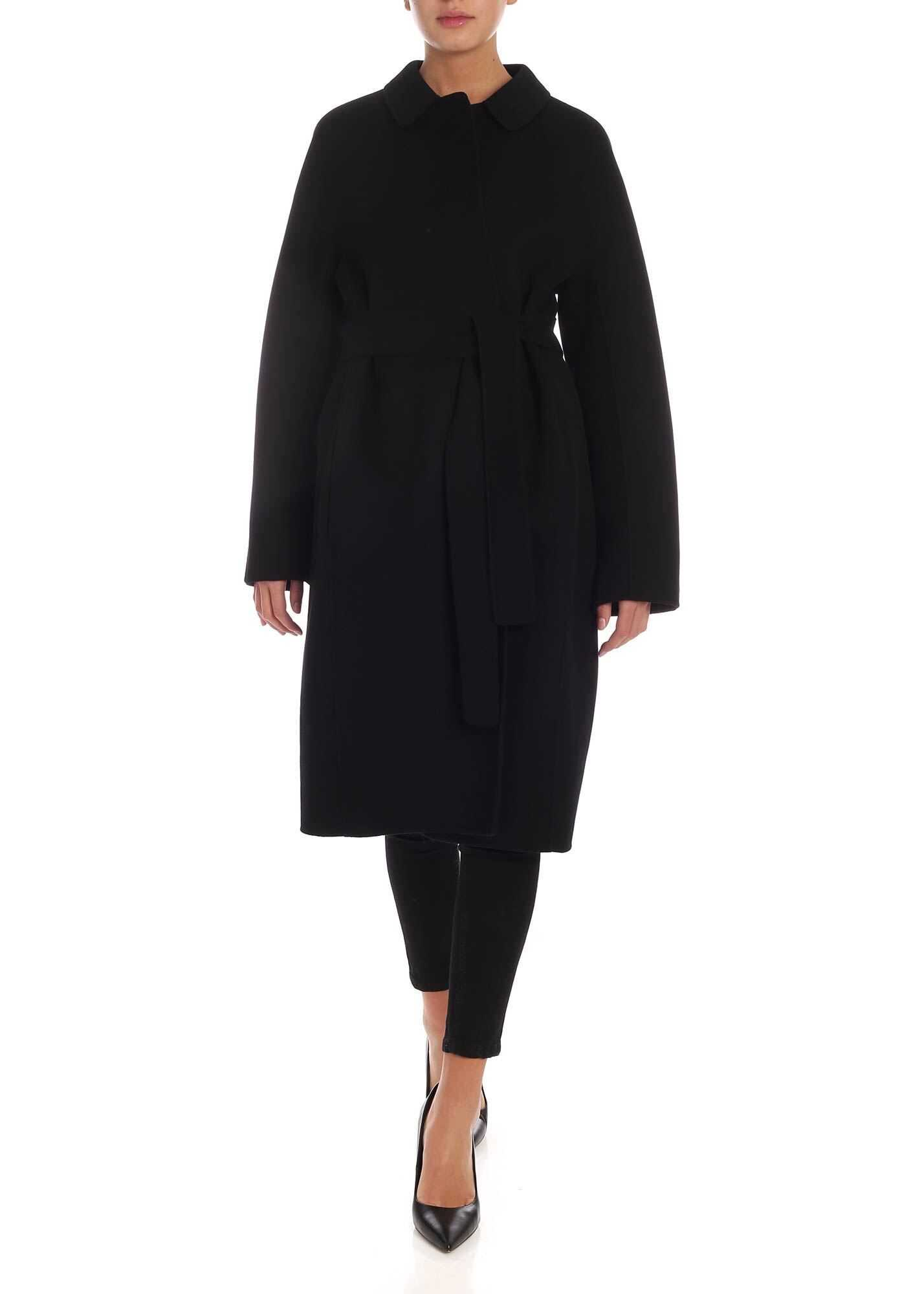 Max Mara Doraci Coat In Black Black