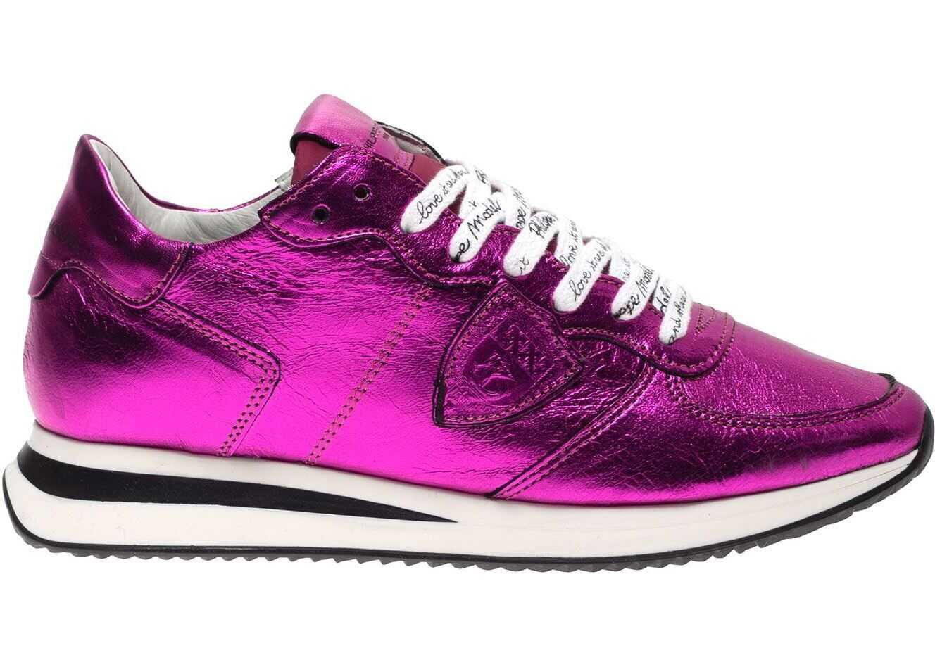 Philippe Model Trpx Metal Pop Sneakers In Fuchsia Fuchsia