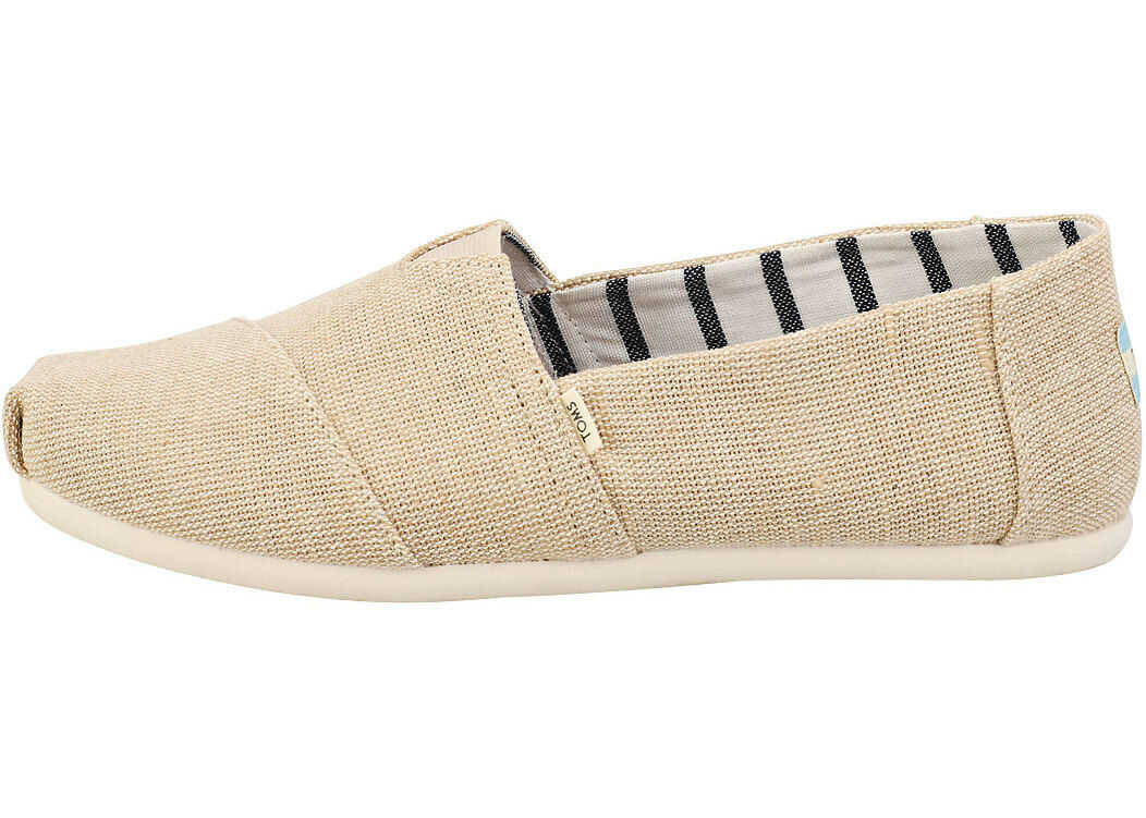 TOMS Classic Unbleached Heritage Slip On Shoes In Beige Beige