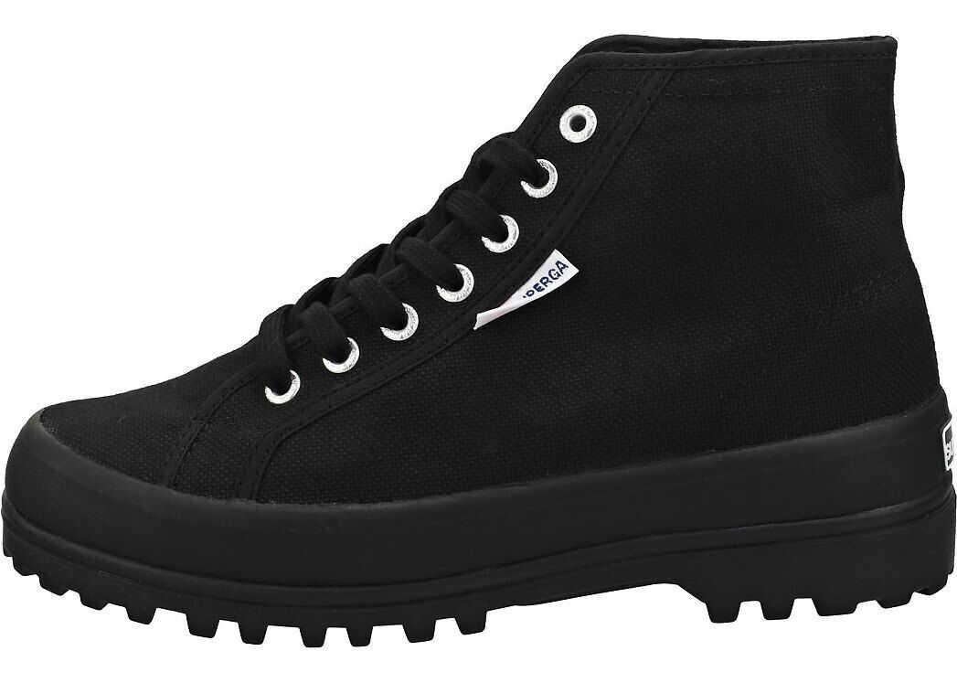 Superga 2341 Cotu Alpina Platform Trainers In Black Black