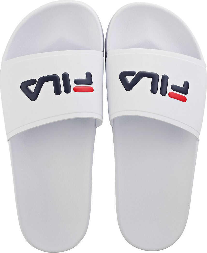 Drifter Scuba Slide Sandals In White Navy Red thumbnail