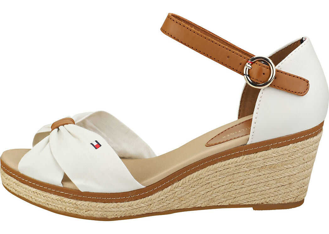 Tommy Hilfiger Iconic Elba Wedge Sandals In Whisper White White