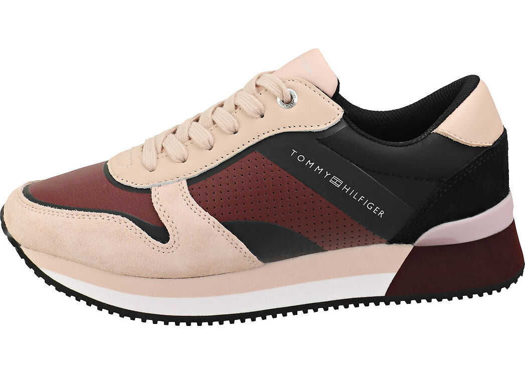 Tommy Hilfiger Active City Sneaker Fashion Trainers In Cameo Rose Beige