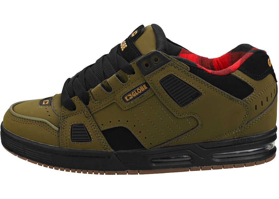 Sabre Unisex Skate Trainers In Olive Black thumbnail