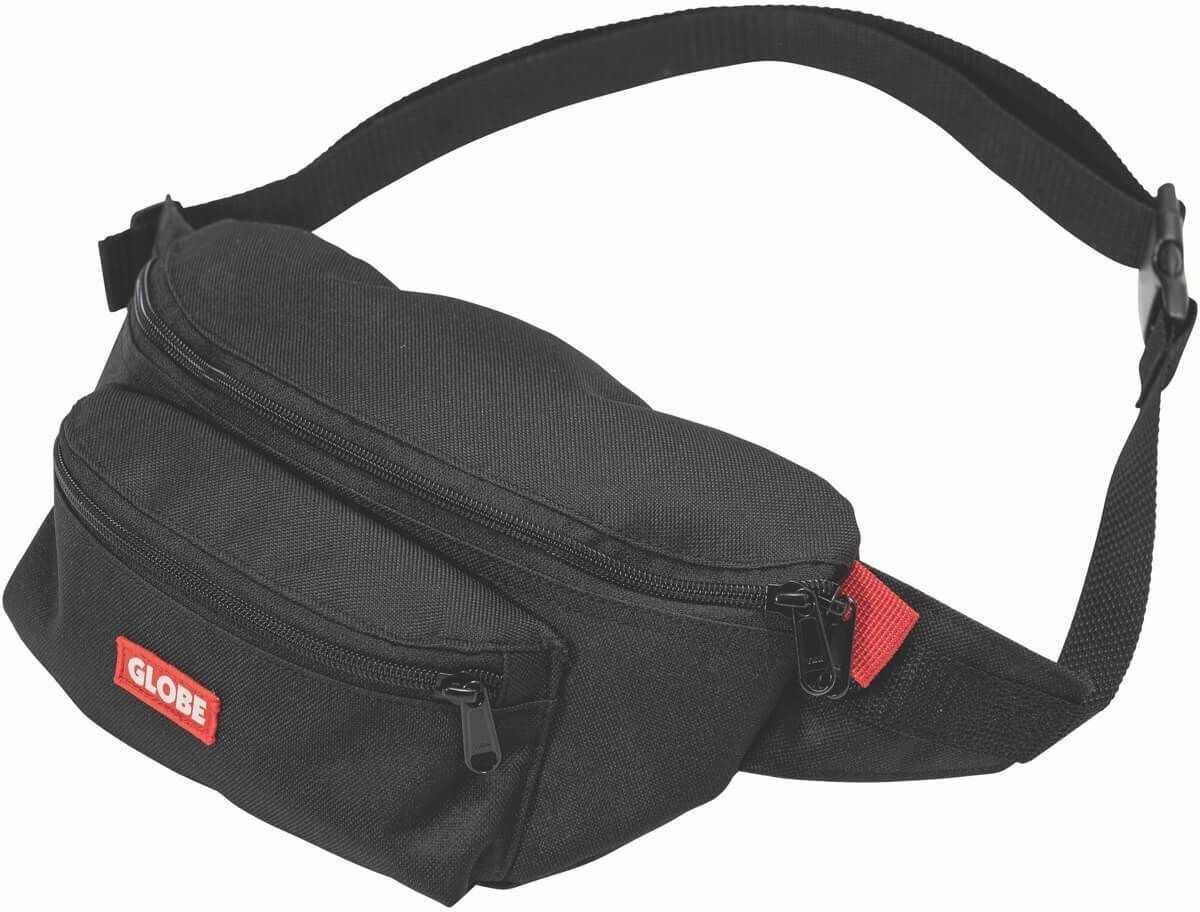 Globe Bar Waist Pack Walking Belt Bag In Black Black