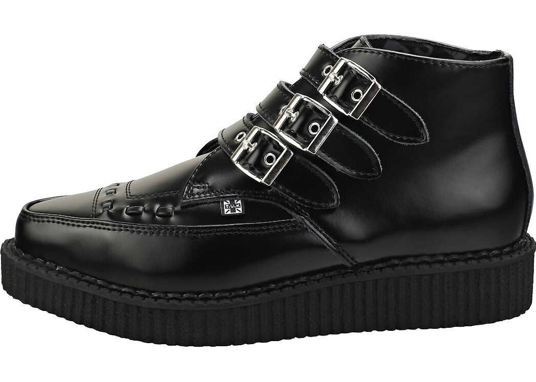 T.u.k Pointed Creeper Unisex Creeper Shoes In Black thumbnail