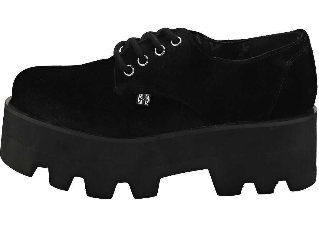 TUK T.u.k Dino Lug Gibson Velvet Creeper Boots In Black Black