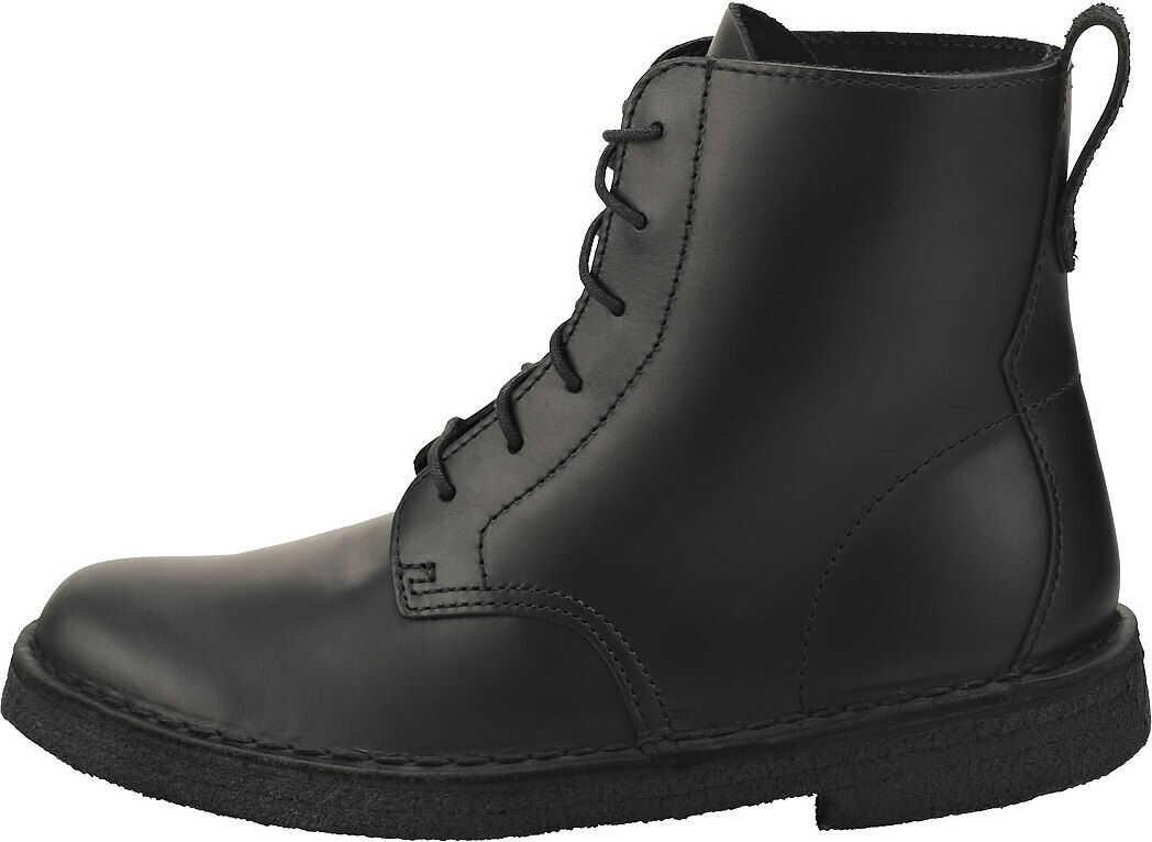 Clarks Desert Mali Ankle Boots In Black Black