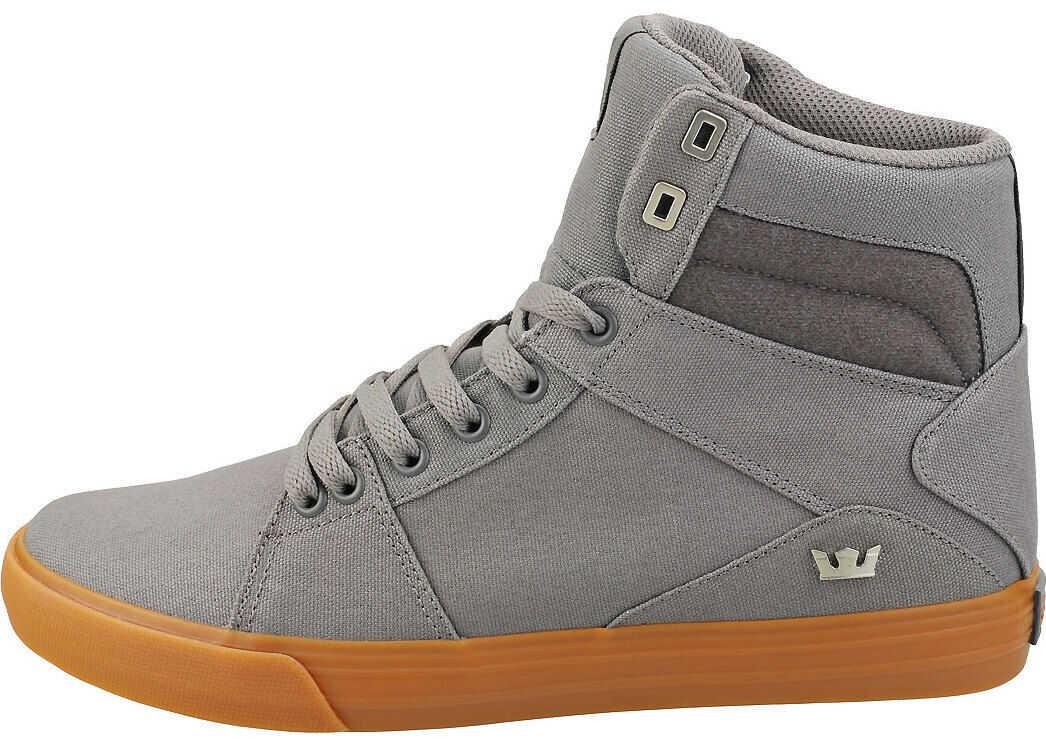 Supra Aluminum Casual Trainers In Charcoal Grey