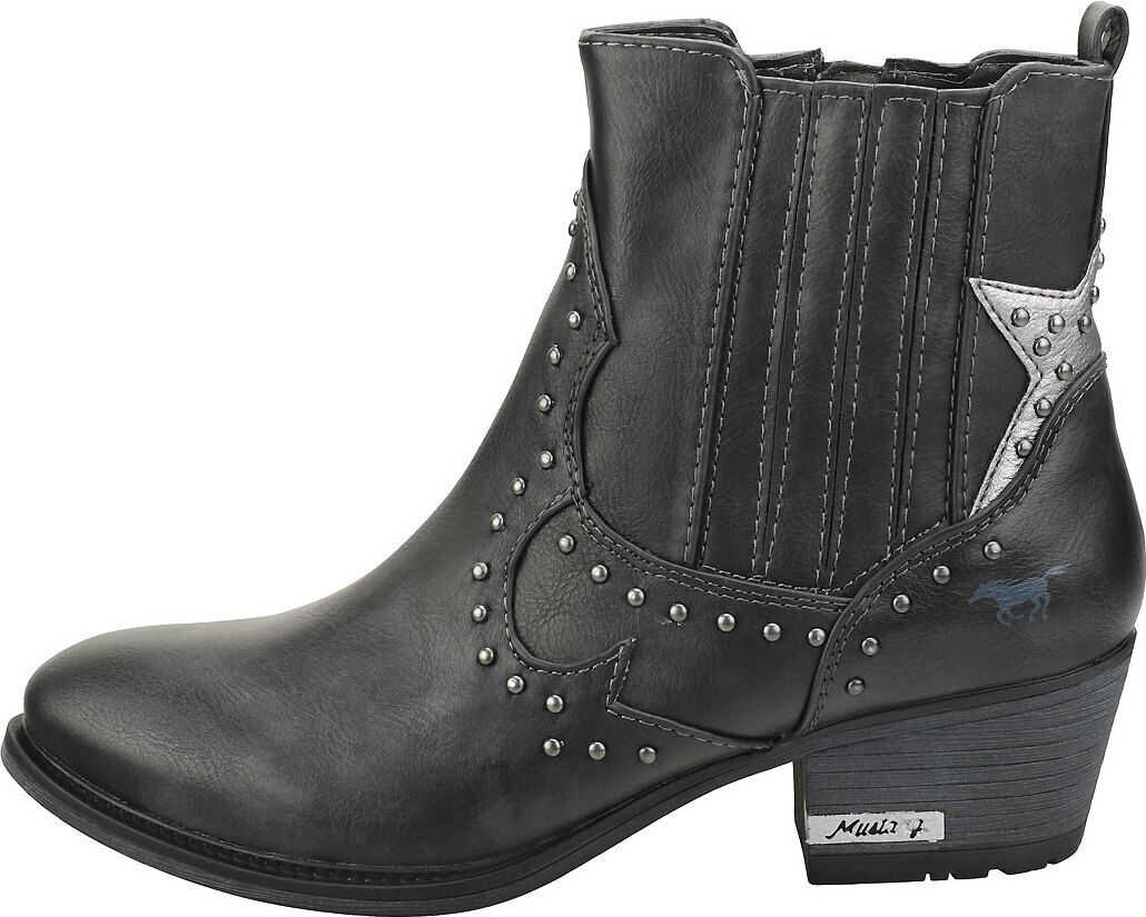 Mustang Casual Stylish Ankle Boots In Graphite Grey