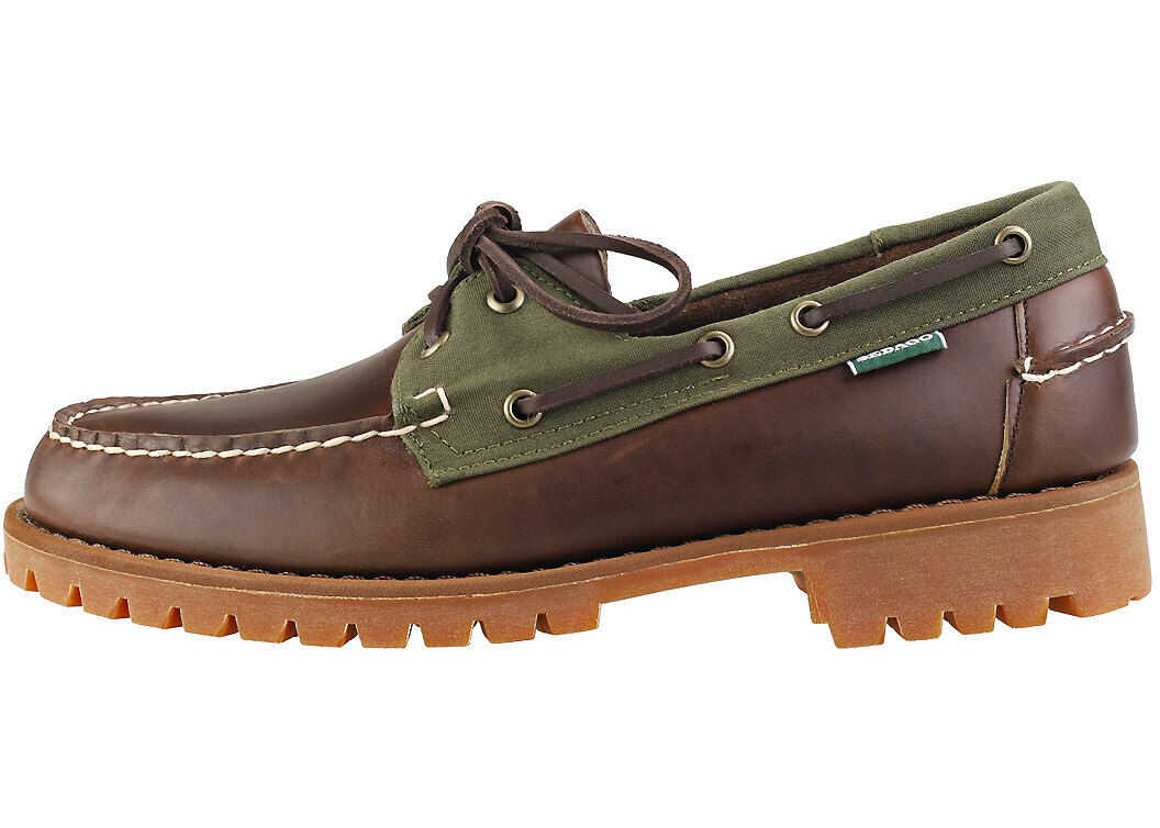 Portland Ranger Lug Boat Shoes In Brown Olive thumbnail