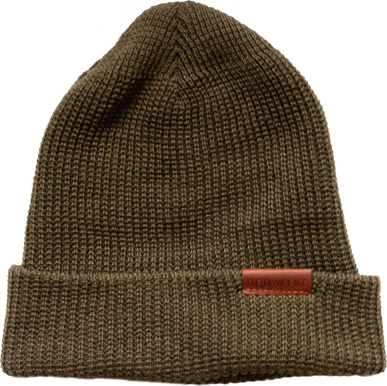 Red Wing Beanie Hat In Olive Olive