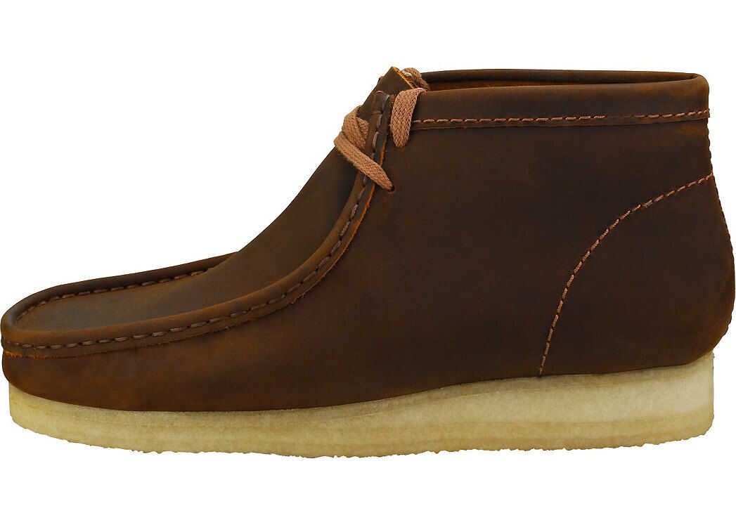 Clarks Wallabee Boot Wallabee Boots In Beeswax Brown