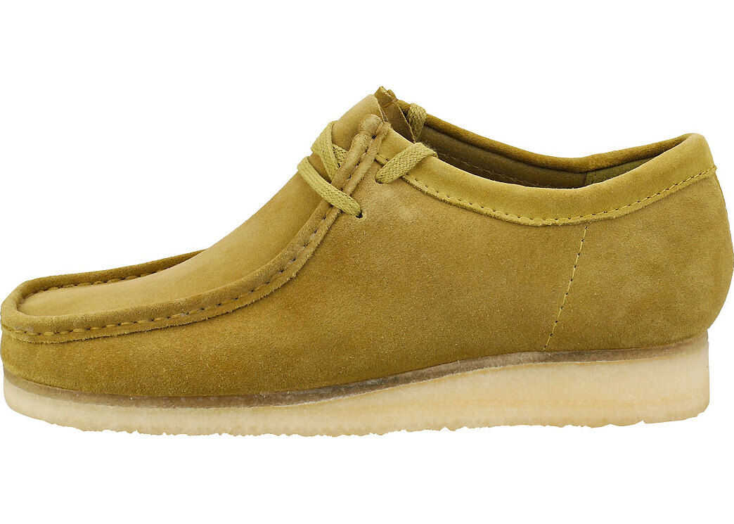 Clarks Wallabee Wallabee Shoes In Khaki Green