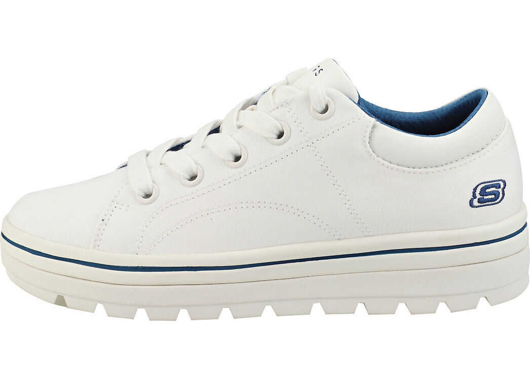 SKECHERS Street Cleat Bring It Back Platform Trainers In White White