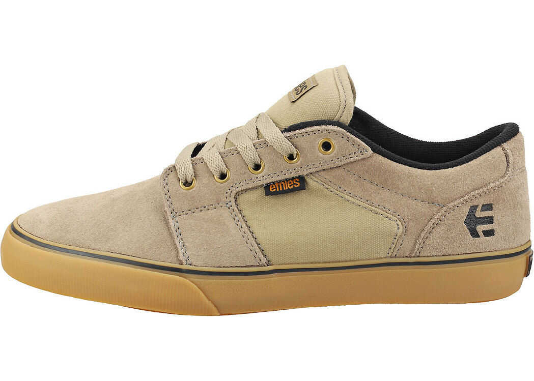 etnies Barge Ls Skate Trainers In Olive Olive