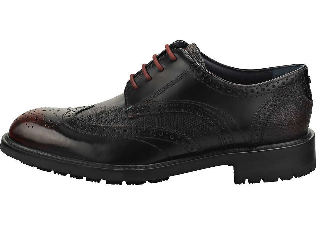 Ted Baker Therund Brogue Shoes In Dark Red Red