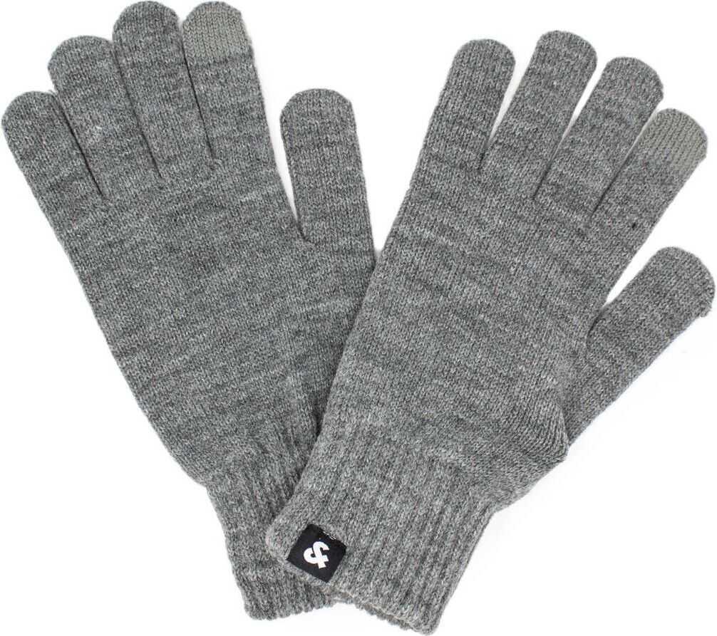 JACK & JONES Acrylic Gloves GREY