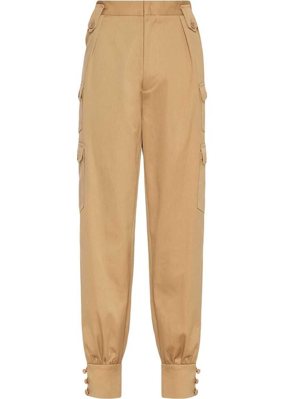 Miu Miu Cotton Pants BROWN
