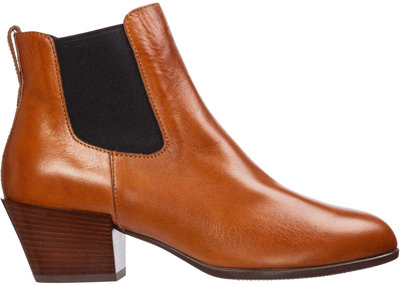 Hogan Boots Booties Brown