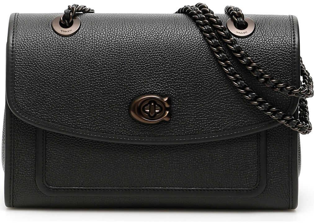COACH Leather Parker Bag V5 BLACK