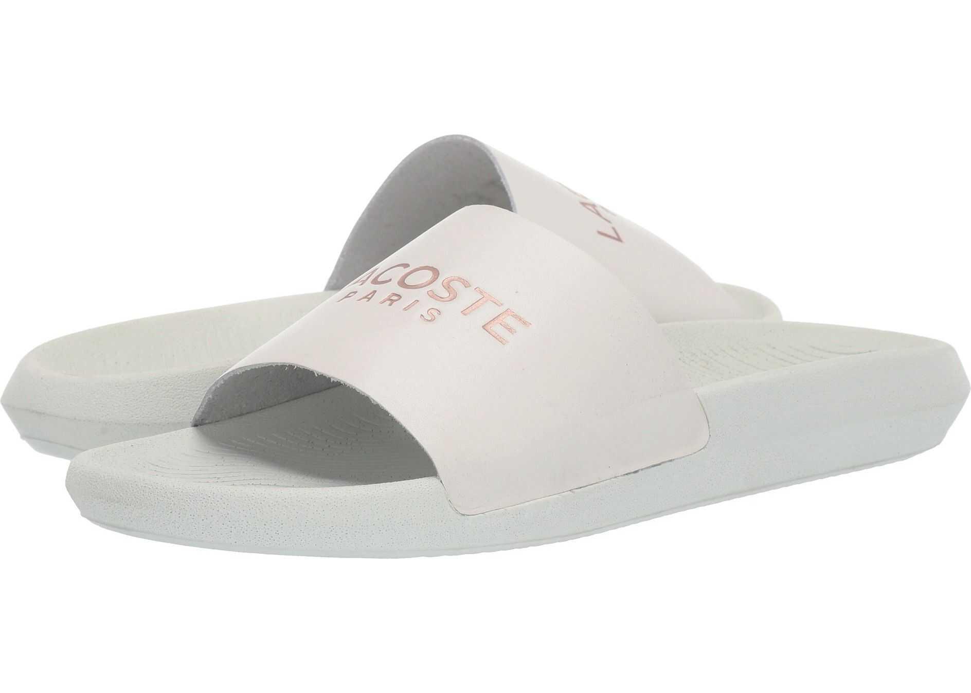 Lacoste Croco Slide 119 2 Off-White/Pink