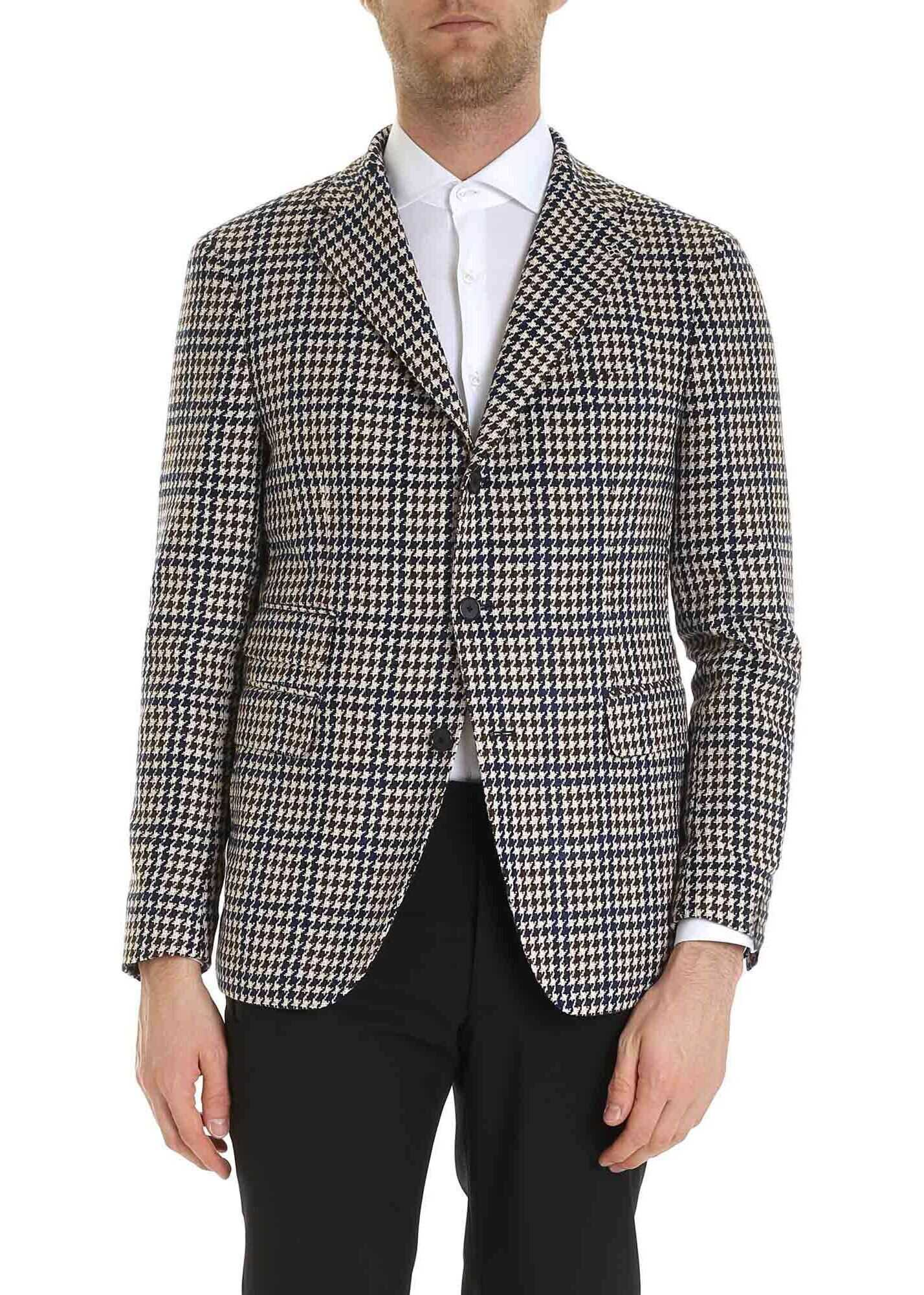 Houndstooth Jacket In Ivory Color thumbnail