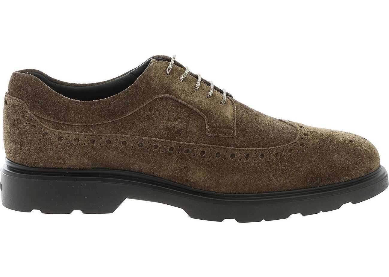 H393 Derby Shoes In Mud Color thumbnail