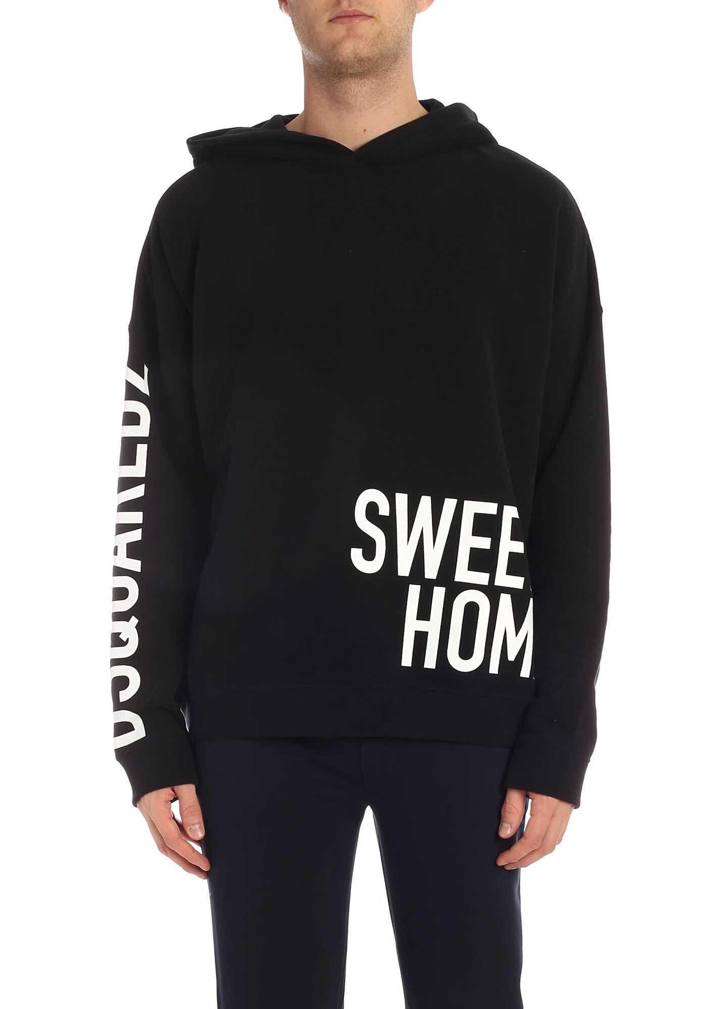 DSQUARED2 Sweet Home Hoodie In Black Black
