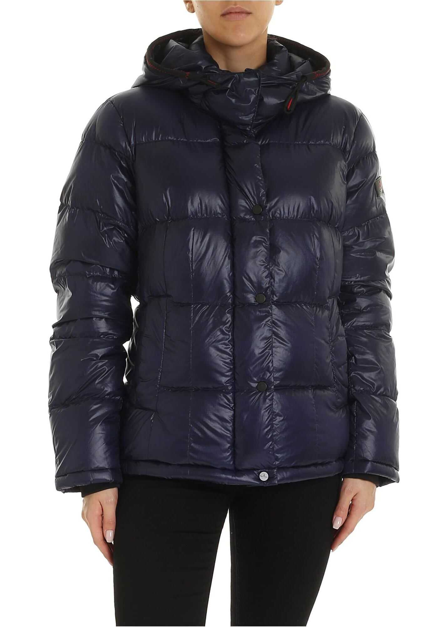 Peuterey Bryce Blue Down Jacket With Hood Blue