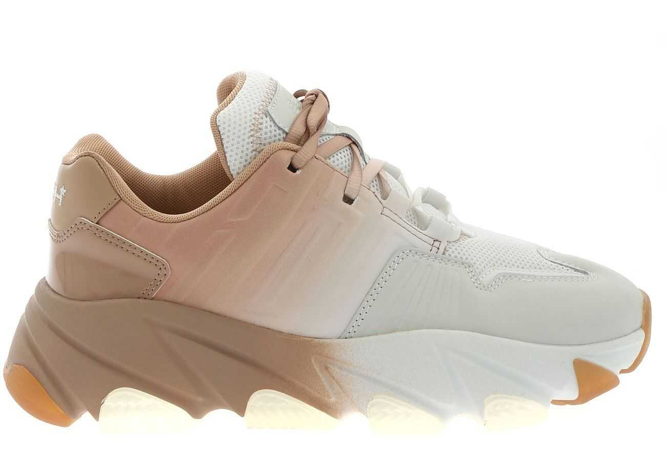 ASH Extasy Sneakers In White And Pink White