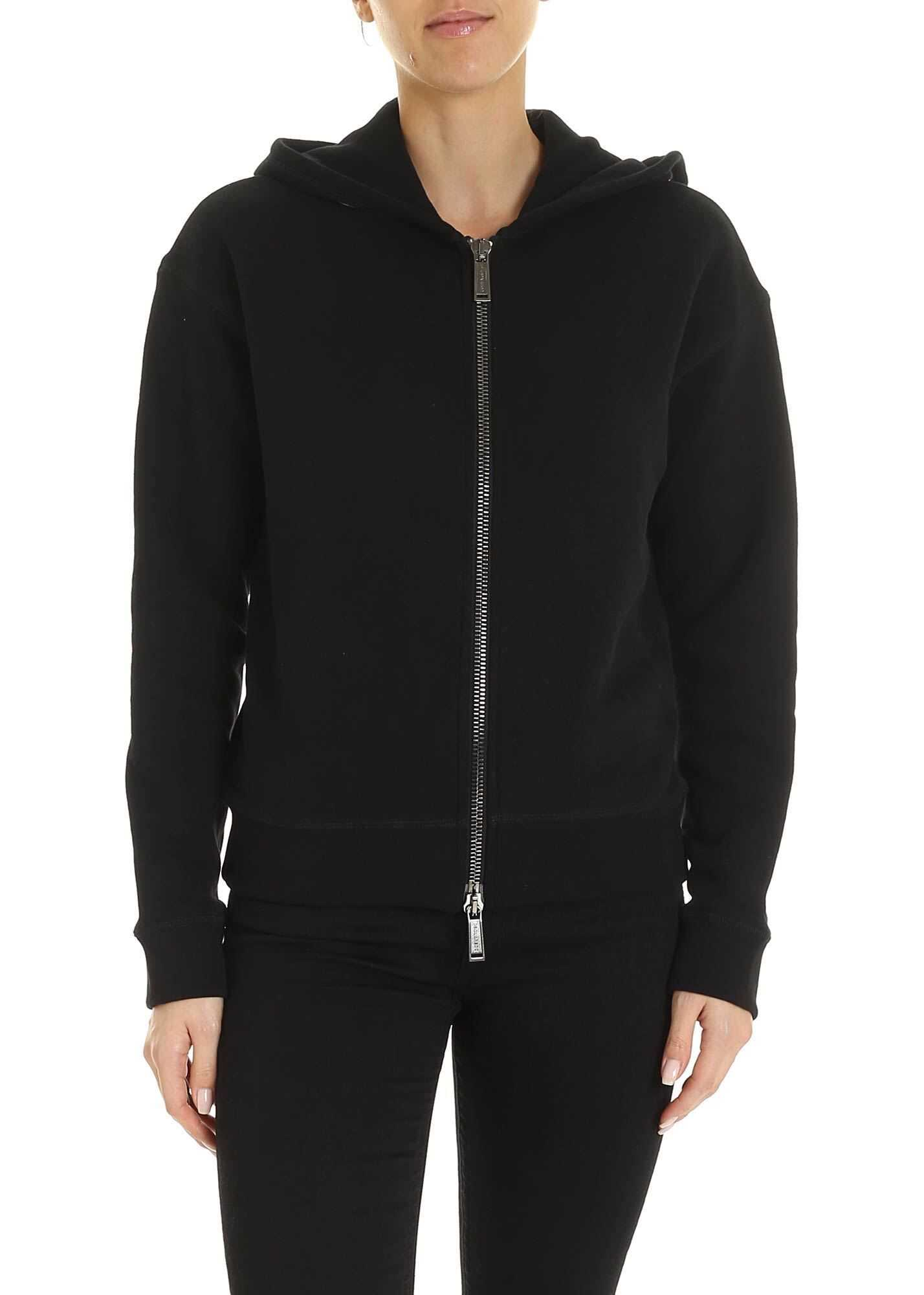 DSQUARED2 Branded Hood Sweatshirt In Black Black