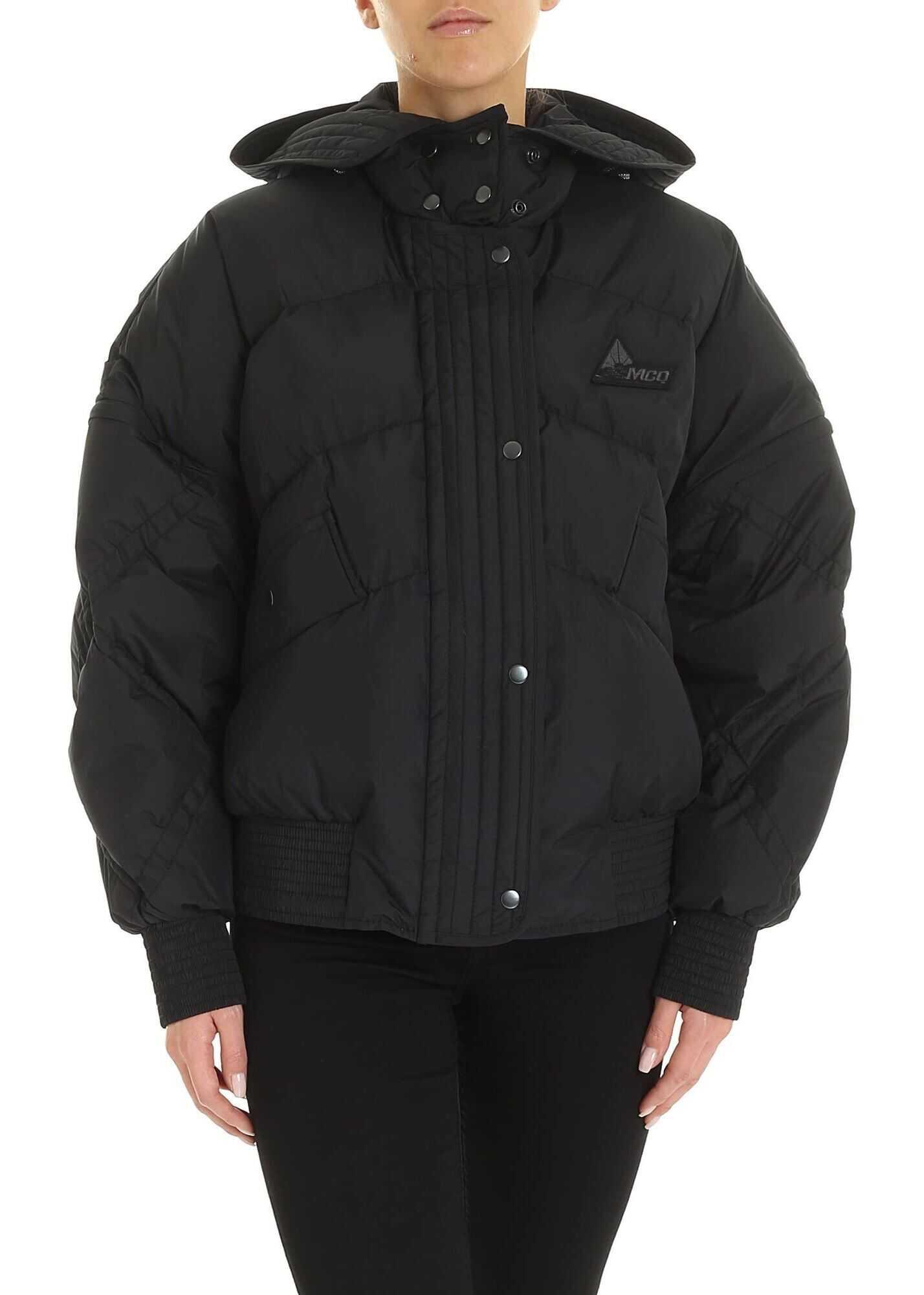 MCQ Alexander McQueen Oversized Down Jacket In Black Black