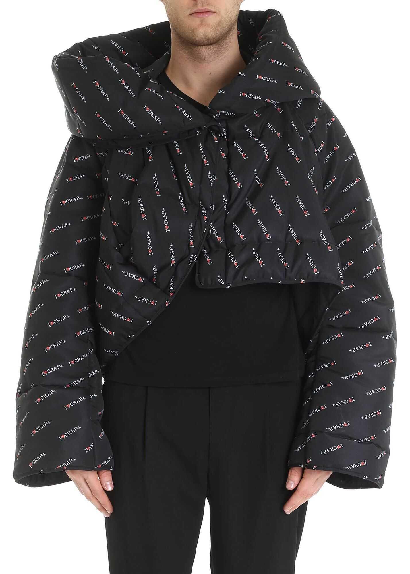 Vivienne Westwood Anglomania Propaganda Down Jacket In Black Black