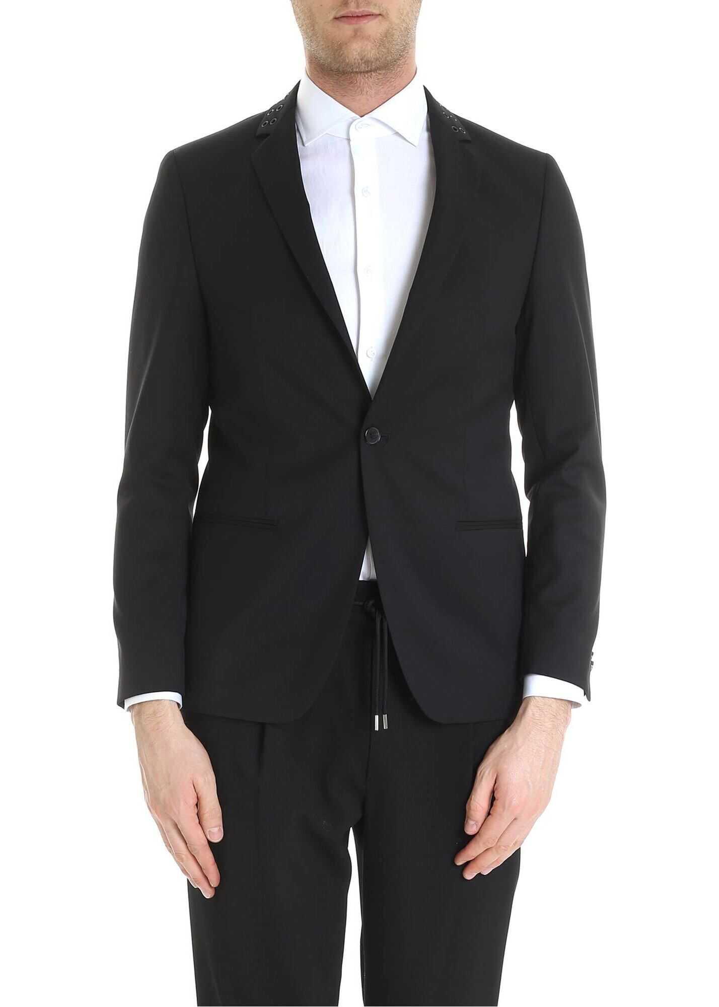 Karl Lagerfeld Knight Lined Jacket In Black Black imagine