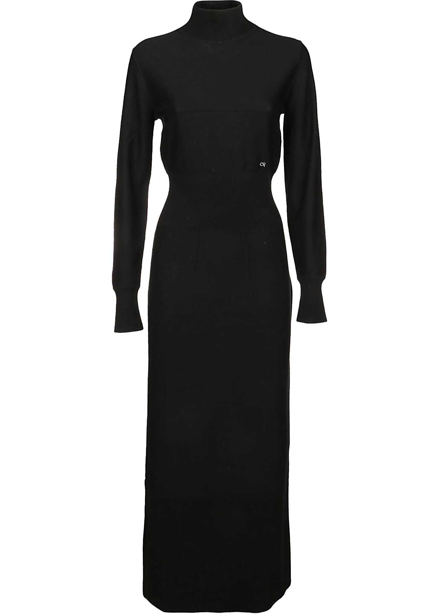 Calvin Klein Wool Dress BLACK