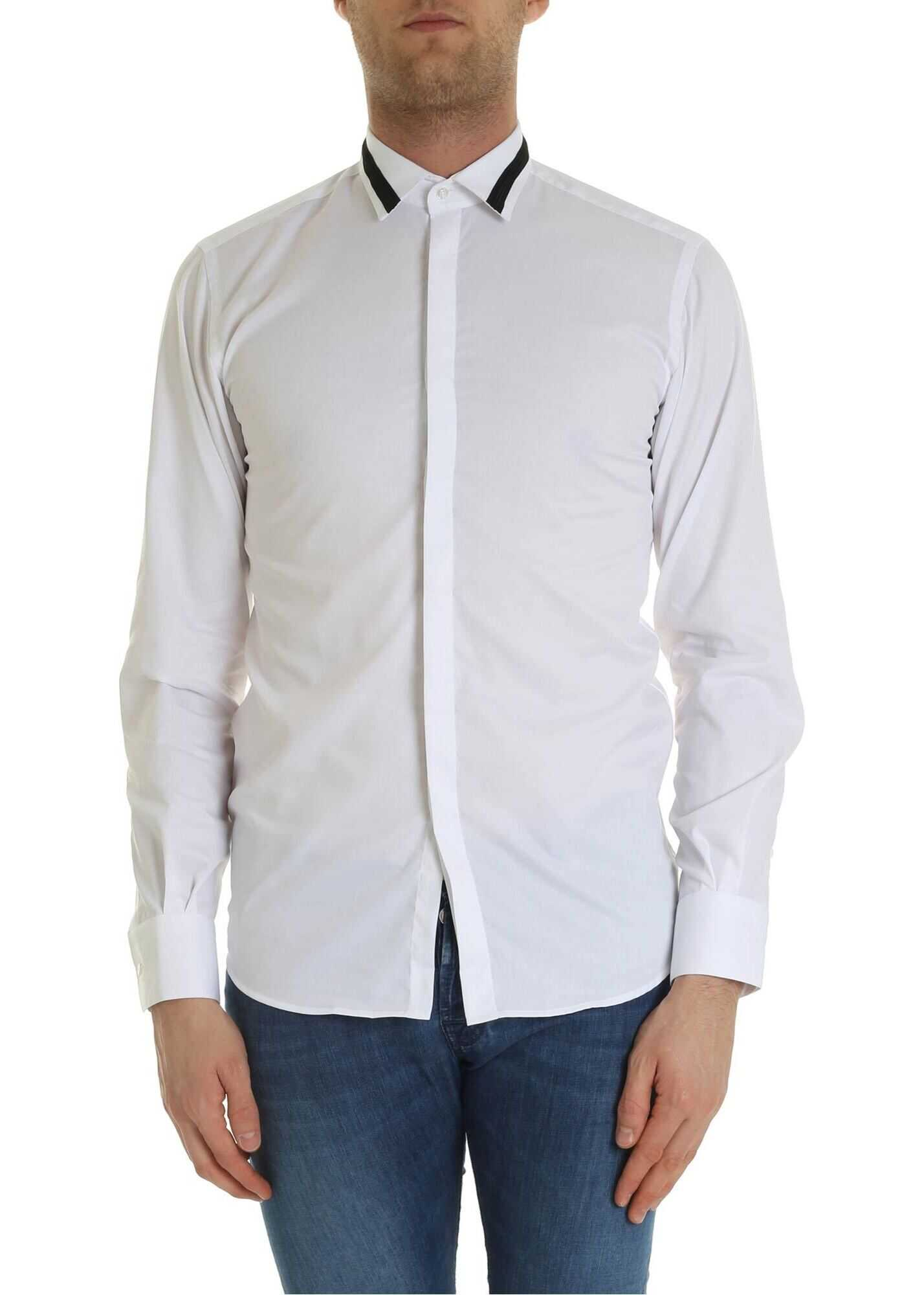 White Shirt With Black Insert thumbnail