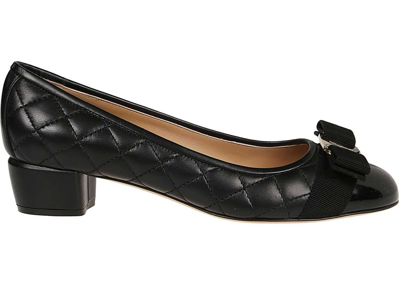 Salvatore Ferragamo Leather Pumps BLACK