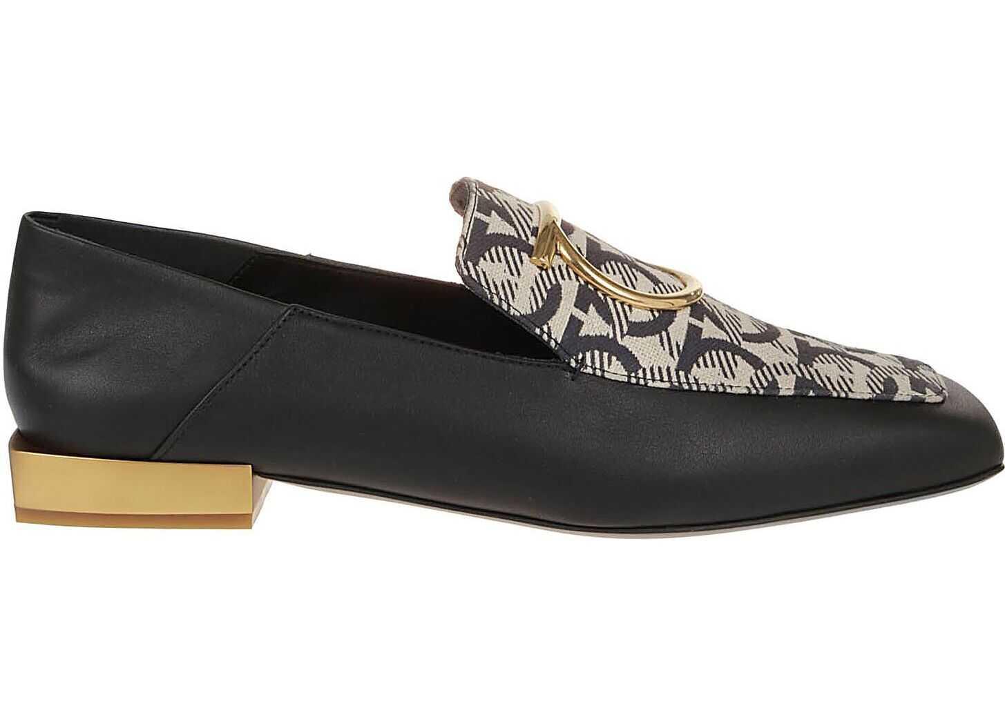 Salvatore Ferragamo Leather Loafers BLACK