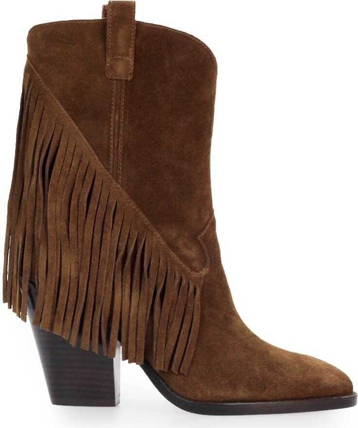 ASH Suede Ankle Boots BROWN