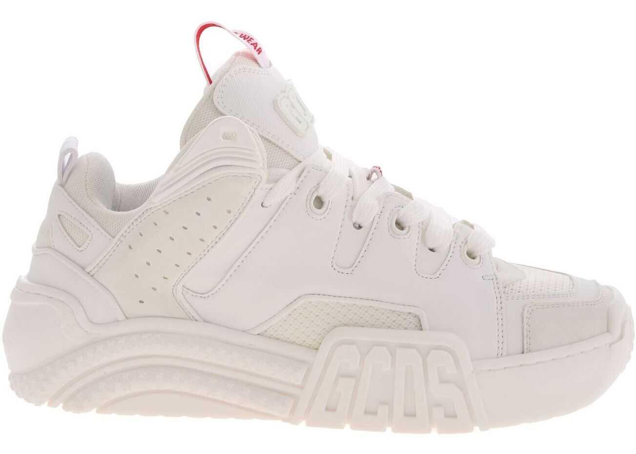 GCDS Gcds Logo Sneakers In White White
